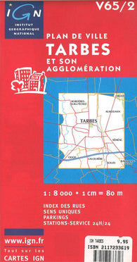 Buy map Tarbes, France by Institut Geographique National