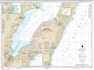 Buy map Lower Green Bay; Oconto Harbor; Algoma (14910-23) by NOAA