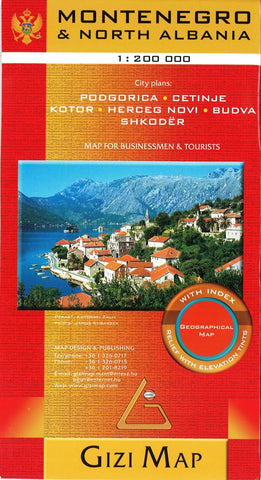 Buy map Montenegro Geographical Map by GiziMap