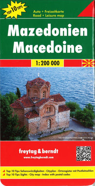 Buy map Macedonia by Freytag-Berndt und Artaria