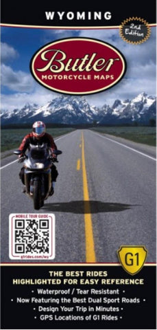 Buy map Wyoming G1 Map by Butler Motorcycle Maps
