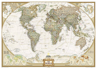 Buy map World, Executive, Mural by National Geographic Maps