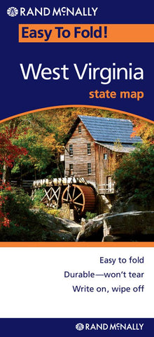 Buy map West Virginia, Easy to Fold by Rand McNally