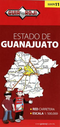 Buy map Guanajuato, Mexico, State Map by Guia Roji