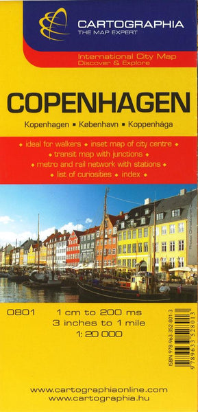 Buy map Copenhagen, Denmark by Cartographia