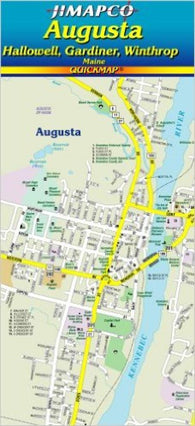 Buy map Augusta, Maine, Quickmap by Jimapco