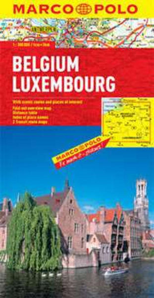 Buy map Belgium and Luxembourg by Marco Polo Travel Publishing Ltd