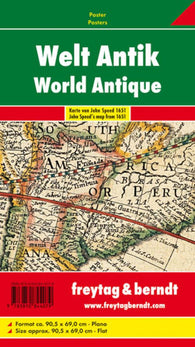 Buy map World, Antique by Freytag-Berndt und Artaria