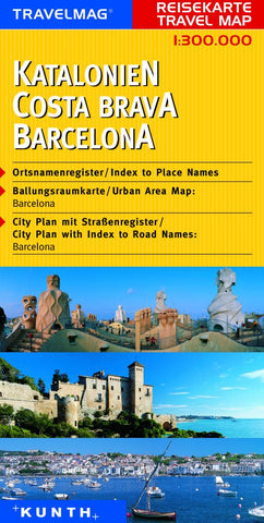 Buy map Catalonia, Barcelona, and Costa Brava, Spain by Kunth Verlag