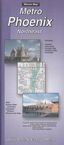 Buy map Phoenix, Arizona Metro, Northeast by The Seeger Map Company Inc.