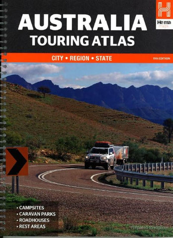 Buy map Australia, Touring Atlas, 11th edition by Hema Maps