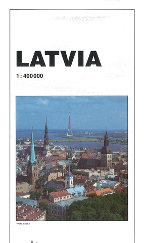 Buy map Latvia Road Map by GiziMap