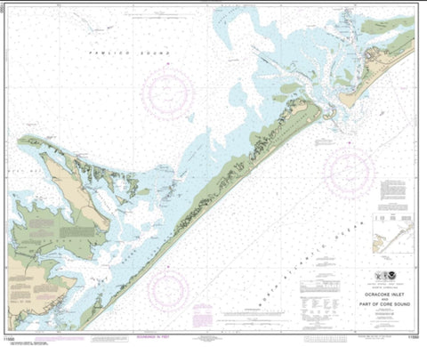 Buy map Ocracoke lnlet and Part of Core Sound (11550-30) by NOAA