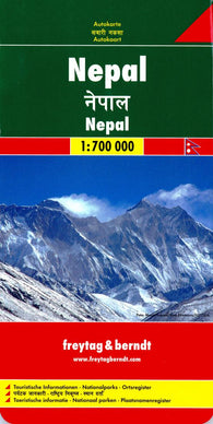 Buy map Nepal by Freytag-Berndt und Artaria