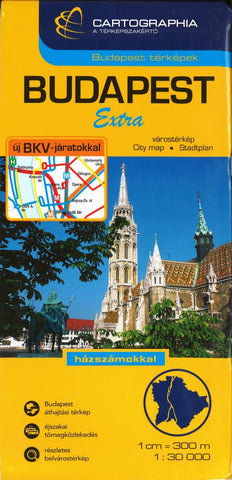 Buy map Budapest, Hungary, Extra Map by Cartographia
