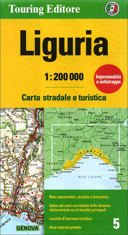Buy map Liguria, Italy by Touring Club Italiano