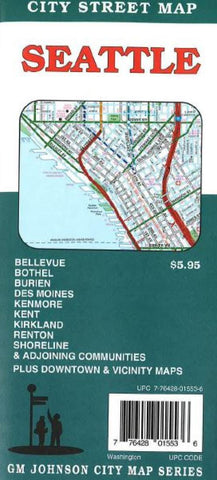 Buy map Seattle, Washington by GM Johnson