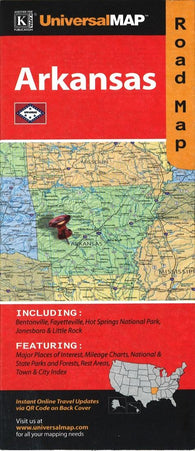 Buy map Arkansas Road Map by Kappa Map Group