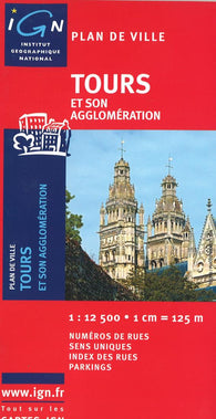 Buy map Tours, France by Institut Geographique National