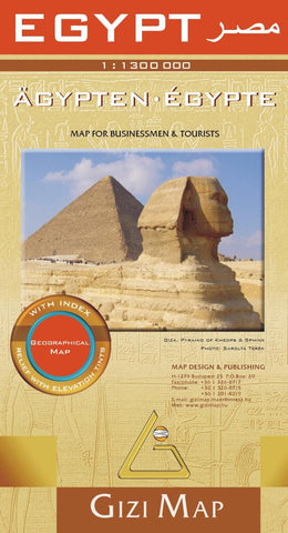 Buy map Egypt Geographical Map by GiziMap