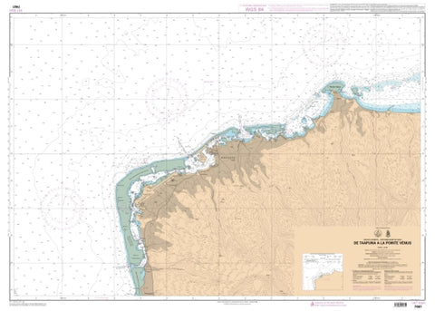 Buy map De la Passe de Taapuna a la Pointe Venus by SHOM