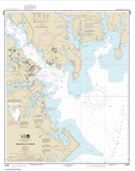 Buy map Annapolis Harbor (12283-29) by NOAA