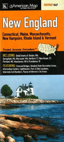 Buy map New England, Regional Map by Kappa Map Group
