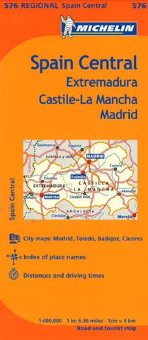 Buy map Extremadura, Spain (576) by Michelin Maps and Guides