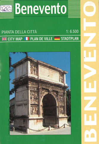 Buy map Benevento, Italy by Litografia Artistica Cartografica