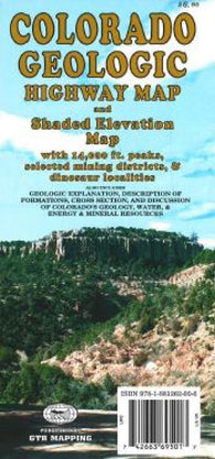 Buy map Colorado, Geologic by GTR Mapping