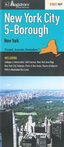 Buy map New York City, New York, 5-Borough by Kappa Map Group
