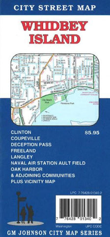 Buy map Whidbey Island, Oak Harbor, Washington by GM Johnson