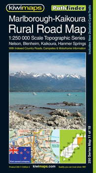 Buy map Marlborough-Kaikoura, New Zealand, Rural Roads Topographic Map by Kiwi Maps