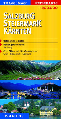 Buy map Salzuburg, Steiermark and Karnten, Austria by Kunth Verlag