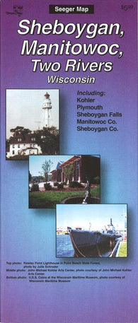 Buy map Sheboygan, Manitowoc and Two Rivers, Wisconsin by The Seeger Map Company Inc.