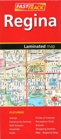 Buy map Regina Saskatchewan, Fast Track laminated map by Canadian Cartographics Corporation