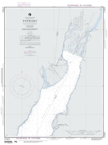 Buy map Stewart - Portland Canal (NGA-17421-1) by National Geospatial-Intelligence Agency