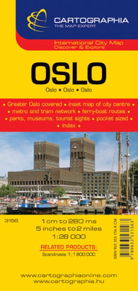 Buy map Oslo, Norway by Cartographia