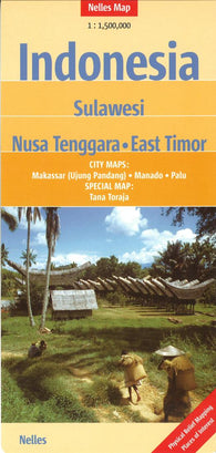 Buy map Indonesia, Sulawesi, Nusa Tenggara and East Timor by Nelles Verlag GmbH