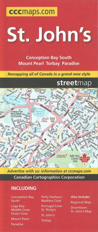 Buy map St. Johns, Newfoundland and Labrador Street Map by Canadian Cartographics Corporation