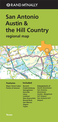 Buy map San Antonio, Austin and the Hill Country, Texas Regional by Rand McNally