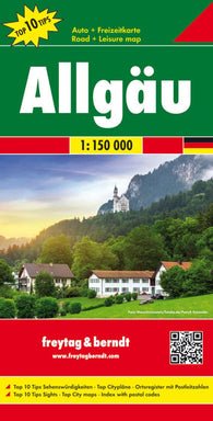 Buy map Allgau, Alps, Germany, Road Map by Freytag-Berndt und Artaria