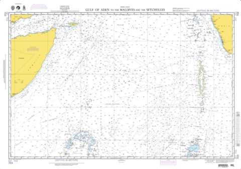 Buy map Gulf Of Aden To Maldives And Seychelles Islands (NGA-703-4) by National Geospatial-Intelligence Agency