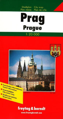 Buy map Prague, Czech Republic by Freytag-Berndt und Artaria