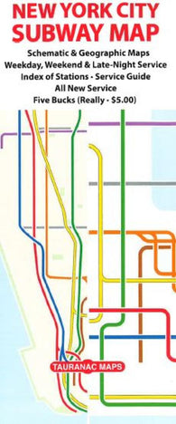 Buy map New York City Subway Map by Tauranac Press