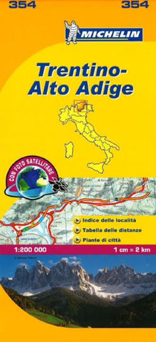 Buy map Trentino Alto Adige, Italy (354) by Michelin Maps and Guides