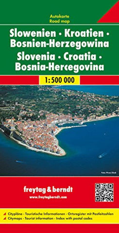 Buy map Slovenia, Croatia and Bosnia Herzegovina by Freytag-Berndt und Artaria