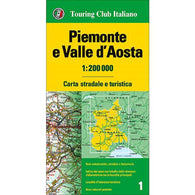 Buy map Piedmont and Valle dAosta, Italy by Touring Club Italiano