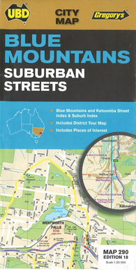 Buy map Blue Mountains, Australia Suburban Streets by Universal Publishers Pty Ltd