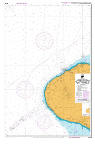 Buy map APPROACHES TO PORT TARANAKI (443) by Land Information New Zealand (LINZ)